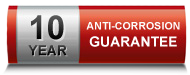 10 year anti-corrosion guarantee